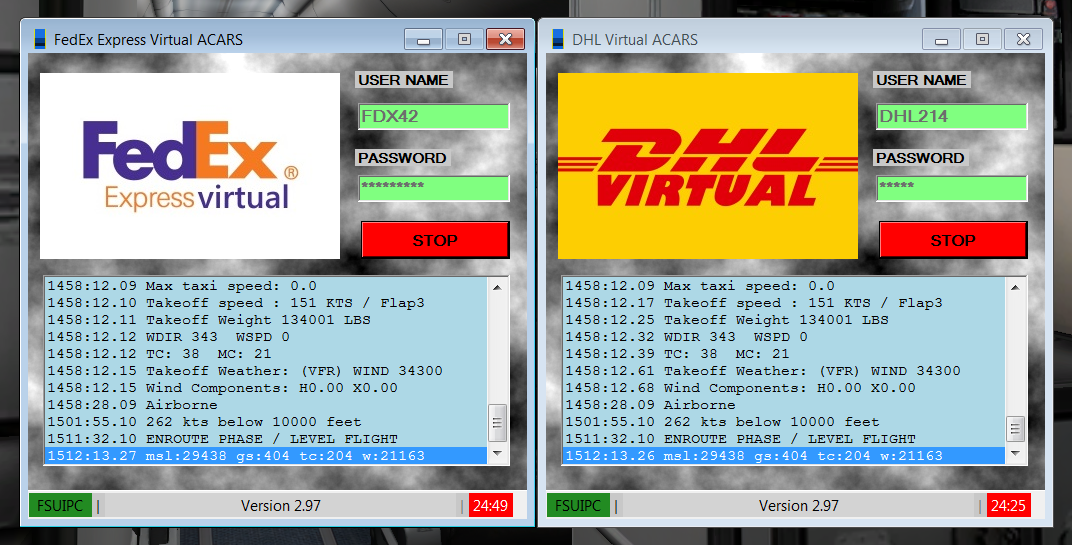 FSACARS - Free, easy-to-use acars for virtual airlines